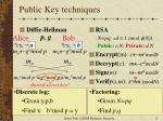public key techniques