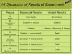 4 discussion of results of experiment