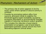 phenytoin mechanism of action
