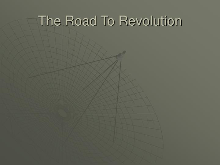 the road to revolution n.