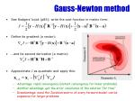 gauss newton method