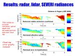results radar lidar severi radiances