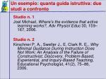 un esempio quanta guida istruttiva due studi a confronto