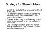 strategy for stakeholders