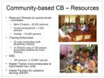 community based cb resources