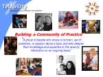 building a community of practice
