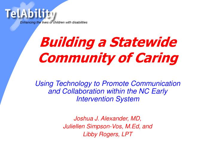 building a statewide community of caring n.