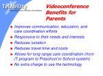 videoconference benefits for parents