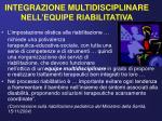 integrazione multidisciplinare nell equipe riabilitativa