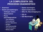 la complessita del processo diagnostico