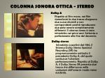colonna sonora ottica stereo