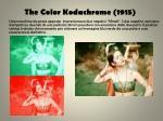 the color kodachrome 1915