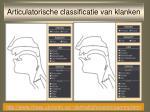 articulatorische classificatie van klanken17