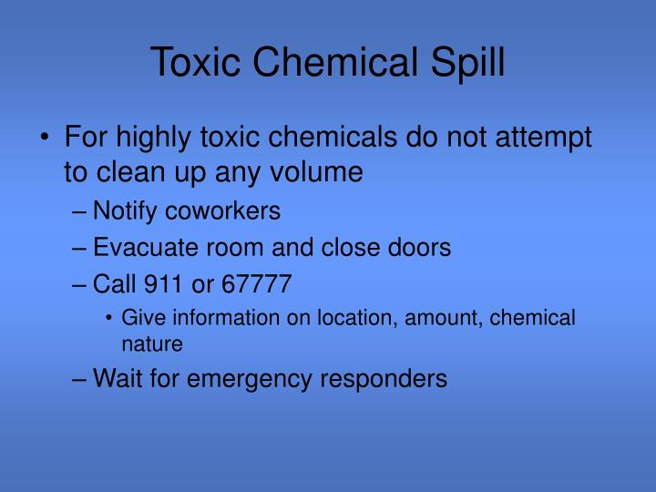 Toxic Chemical Spill