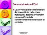 somministrazione pqm
