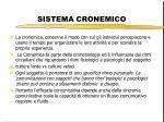 sistema cronemico