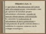 obiettivi art 11