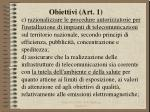 obiettivi art 12