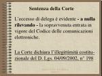 sentenza della corte