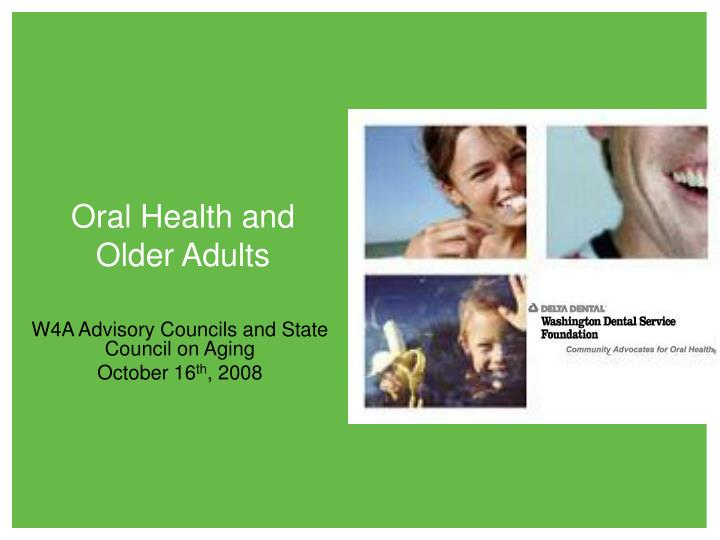 oral health and older adults n.