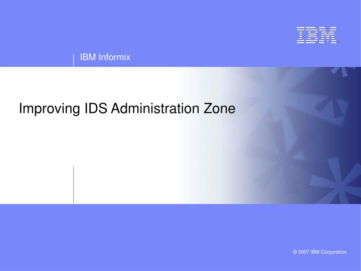 improving ids administration zone n.