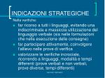 indicazioni strategiche