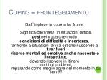 coping fronteggiamento