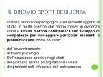il binomio sport resilienza
