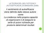 la teoria del self efficacy autoefficacia di bandura 2000