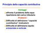 principio della capacit contributiva