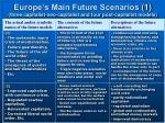 europe s main future scenarios 1 three capitalist neo capitalist and four post capitalist models