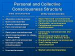 personal and collective consciousness structure