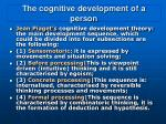 the cognitive development of a person