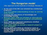 the hungarian model our approach at the institute of strategic research