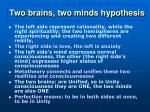 two brains two minds hypothesis1