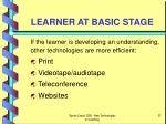 learner at basic stage