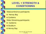 level 1 strength conditioning