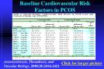 baseline cardiovascular risk factors in pcos