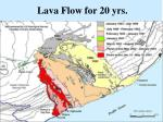 lava flow for 20 yrs