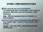 other lymphadenopathies