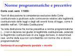 norme programmatiche e precettive1
