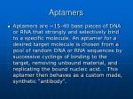 aptamers