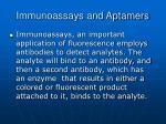 immunoassays and aptamers