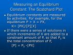 measuring an equilibrium constant the scatchard plot