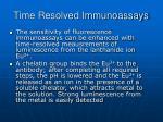 time resolved immunoassays