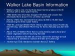 walker lake basin information