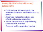anaerobic fitness in children and adolescents
