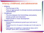 infancy childhood and adolescence