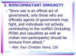 3 noncombatant immunity
