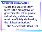 4 formal declaration